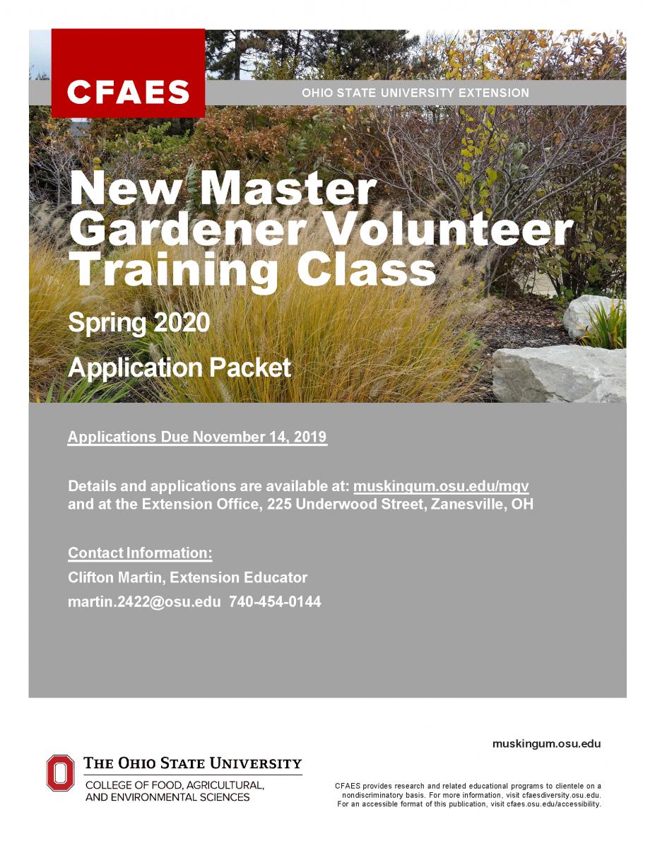Master Gardener New Class